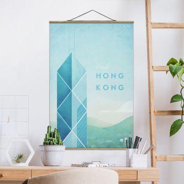Foto su tessuto da parete con bastone - Poster Travel - Hong Kong - Verticale 3:2
