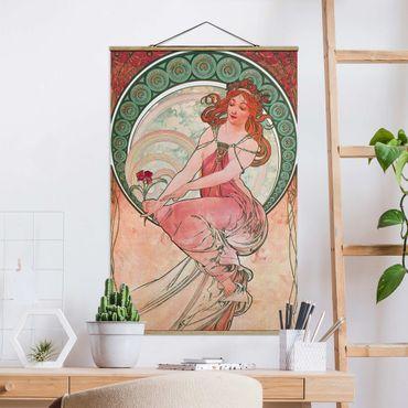 Foto su tessuto da parete con bastone - Alfons Mucha - Quattro arti - Pittura - Verticale 3:2