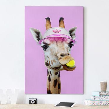 Quadri su tela - Giraffa nel tennis