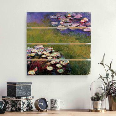 Stampa su legno - Claude Monet - Ninfee - Quadrato 1:1
