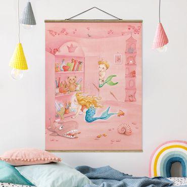 Foto su tessuto da parete con bastone - Matilda ha un piano - Verticale 4:3
