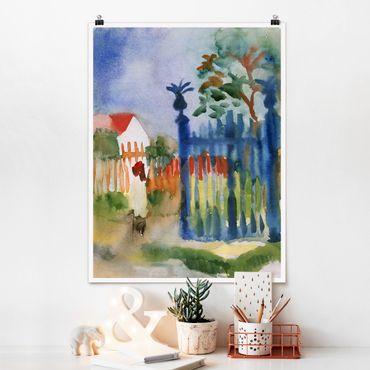 Poster - August Macke - Garden Gate - Verticale 4:3