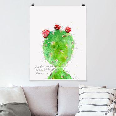 Poster - Cactus Con Bibellvers IV - Verticale 4:3