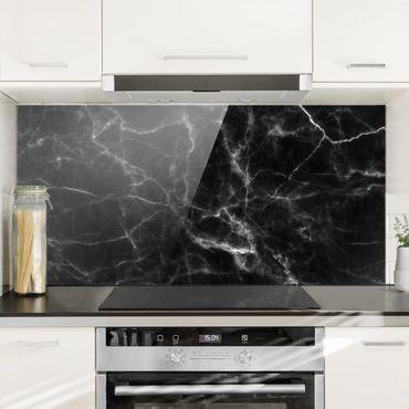 Paraschizzi in vetro - Nero Carrara