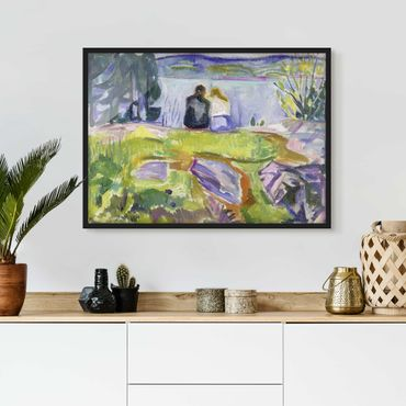 Poster con cornice - Edvard Munch - Spring - Orizzontale 3:4
