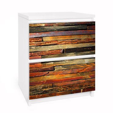 Carta adesiva per mobili IKEA - Malm Cassettiera 2xCassetti - Stack of Planks