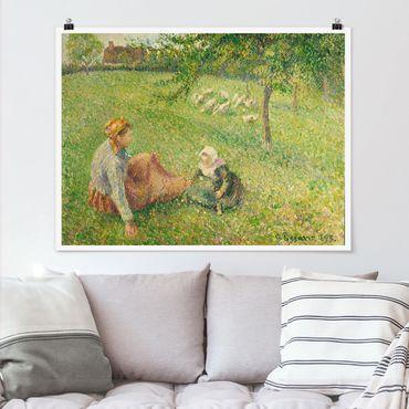 Poster - Camille Pissarro - Gänsehirtin - Orizzontale 3:4