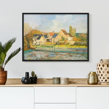 Poster con cornice - Camille Pissarro - Countryside At Pontoise - Orizzontale 3:4