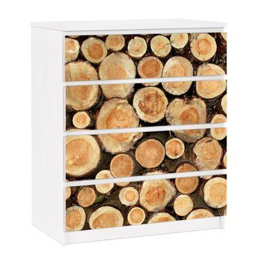 Carta adesiva per mobili IKEA - Malm Cassettiera 4xCassetti - No.YK18 logs
