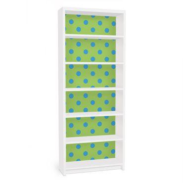 Carta adesiva per mobili IKEA - Billy Libreria - no.DS92 Dot Design Girly Green
