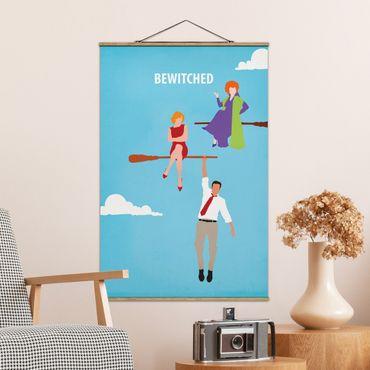 Foto su tessuto da parete con bastone - Bewitched Movie Poster - Verticale 3:2