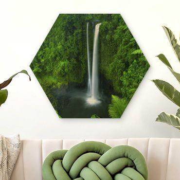 Esagono in legno - paradisiaca Waterfall