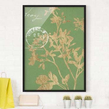 Poster con cornice - Foglie D'Oro Su Lind II - Verticale 4:3
