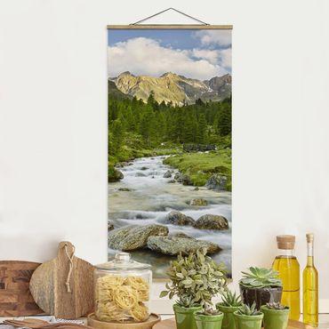 Foto su tessuto da parete con bastone - Debanttal Parco Nazionale degli Alti Tauri - Verticale 2:1