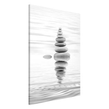 Lavagna magnetica - Torre Pietra In The Water Bianco e nero - Formato verticale 2:3