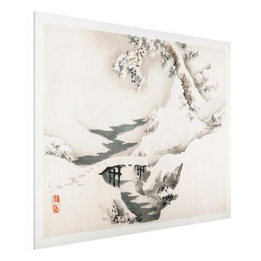 Stampa su Forex - Asian Vintage Paesaggio invernale Disegno - Orizzontale 3:4