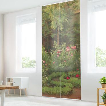 Tende scorrevoli set - Camille Pissarro - A Rose Garden - 3 Pannelli