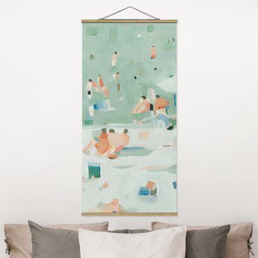 Quadro su tessuto con stecche per poster - Estate confetti I - Verticale 2:1