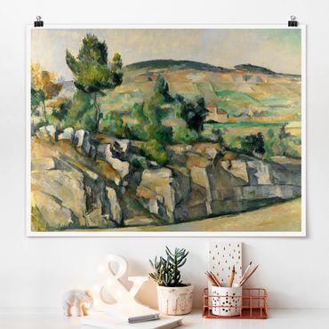Poster - Paul Cézanne - Paesaggio collinare - Orizzontale 3:4
