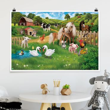 Poster - Animali della fattoria - Orizzontale 2:3