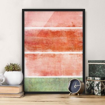 Poster con cornice - Color Harmony Red - Verticale 4:3