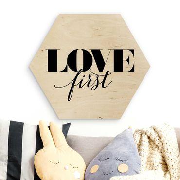 Esagono in legno - amore Prima