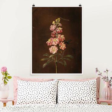Poster - Barbara Regina Dietzsch - Un Pink Garden Levkkoje - Verticale 4:3