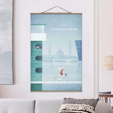 Foto su tessuto da parete con bastone - Poster di viaggio - Copenaghen - Verticale 3:2
