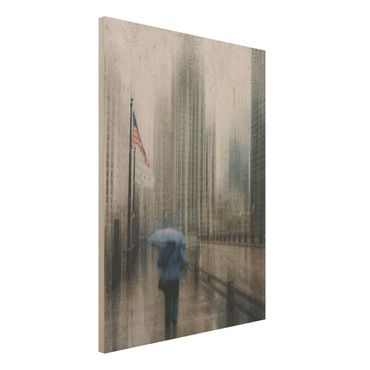 Quadro in legno - Rainy Chicago - Verticale 3:4