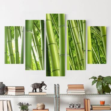 Stampa su tela 5 parti - Bamboo Trees