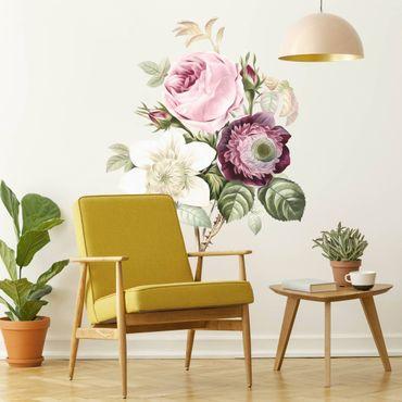 Adesivo murale - Illustrazione Vintage Bouquet XXL