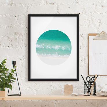 Poster con cornice - Il mare in un cerchio