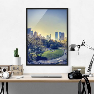 Poster con cornice - Peaceful Central Park - Verticale 4:3