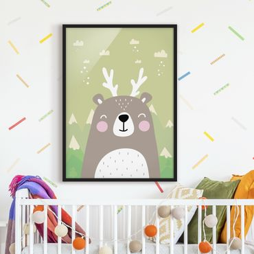 Poster con cornice - Wolpertinger Bears - Verticale 4:3
