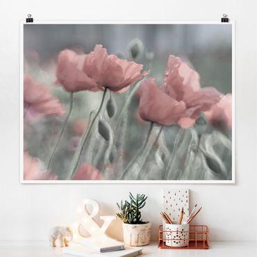 Poster - pittoreschi Poppies - Orizzontale 3:4
