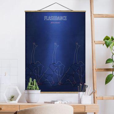 Foto su tessuto da parete con bastone - Film Poster Flashdance - Verticale 4:3