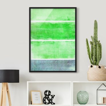 Poster con cornice - Color Harmony Green - Verticale 4:3