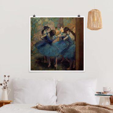 Poster - Edgar Degas - The Blue Dancers - Quadrato 1:1