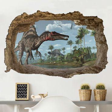 Adesivo murale - Dinosaur Paesaggio