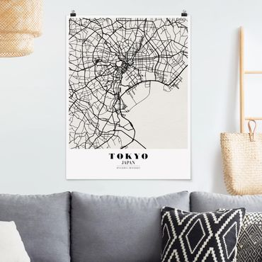 Poster - Mappa Tokyo - Classic - Verticale 4:3