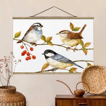 Foto su tessuto da parete con bastone - Birds e Bacche - Tette - Orizzontale 2:3