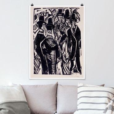 Poster - Ernst Ludwig Kirchner - Street Scene - Verticale 4:3