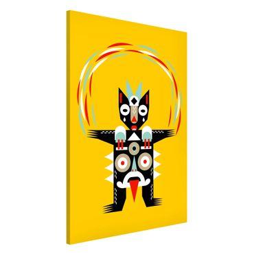 Lavagna magnetica - Collage Ethno mostro - Juggler - Formato verticale 2:3