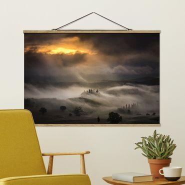 Foto su tessuto da parete con bastone - Nebbia Waves - Orizzontale 2:3