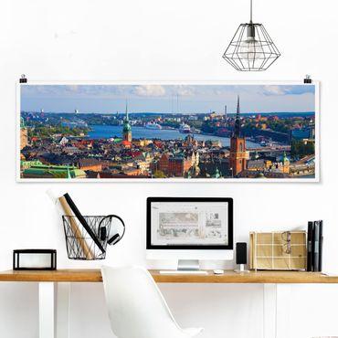 Poster - Stoccolma in Svezia - Panorama formato orizzontale