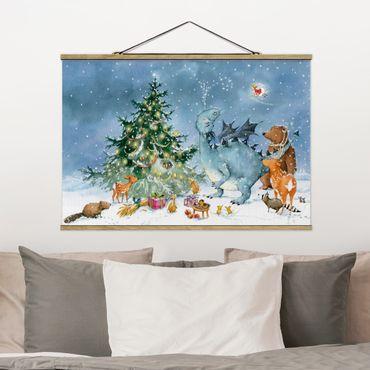 Foto su tessuto da parete con bastone - Procione Wassili - Il Festival di Natale