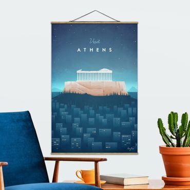 Foto su tessuto da parete con bastone - Poster di viaggio - Atene - Verticale 3:2