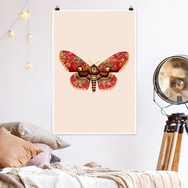 Poster - Vintage Moth - Verticale 3:2
