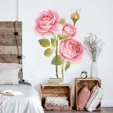Adesivo murale - Acquerello tre rose XXL