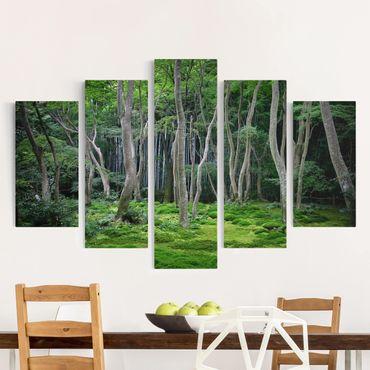 Stampa su tela 5 parti - Japanese forest